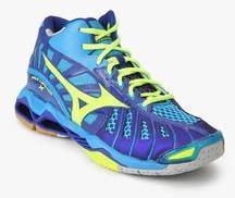 separation shoes f3a14 57e0a Mizuno Wave Tornado X Mid Navy Blue Indoor Sports Shoes men