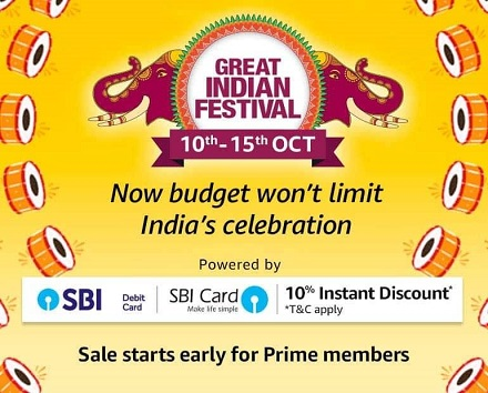 Amazon Great Indian Sale (10-15 Oct)