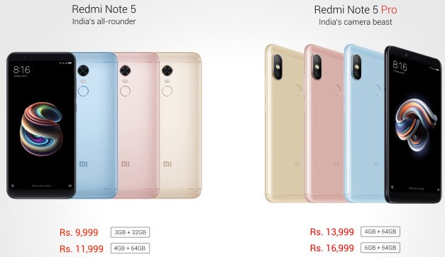 Redmi Note 5, Redmi Note 5 Pro Launched