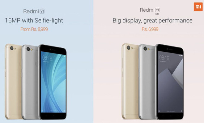 redmi Y and redmi Y1 lite launched