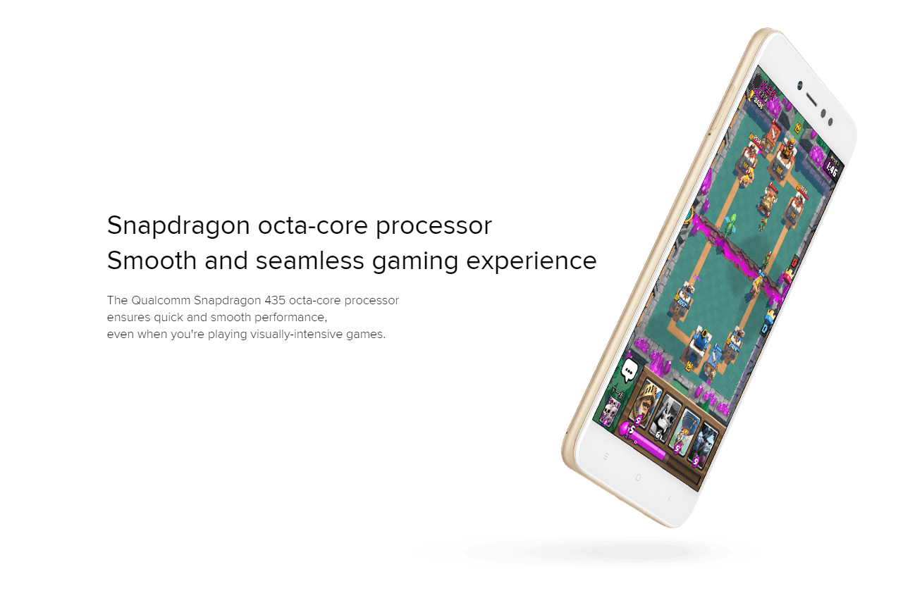 Snapdragon octa-core processor for terrific speed: