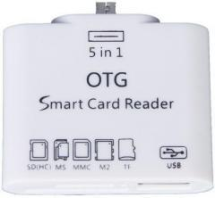 ADMI 5 in 1 Micro USB OTG Card Reader SD M2 TF Connection Kit for Smart Phones & Tab