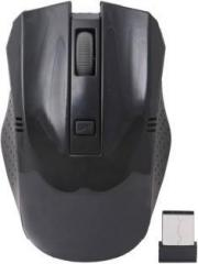 Adnet Portable With Nano Receiver Black Wireless Optical Mouse (USB)