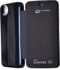 Air Accessories Flip Cover for Micromax Canvas A1 With Android one