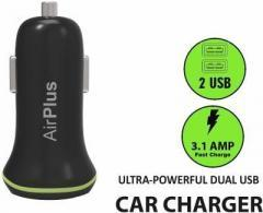 AirPlus Universal Car Charger Adapter Dual USB 2.1A+1.0 Amp Battery