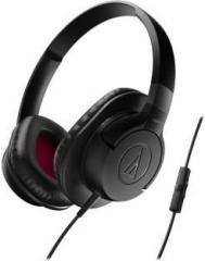 Audio Technica ATH AX1iS BK Wired Headset