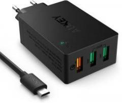 Aukey PA T2 QC 2.0 42W 3 Port USB Desktop Wall Charger Battery