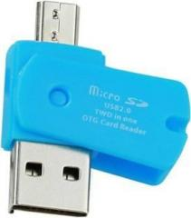 Bb4 USB 2.0 TWO IN ONE Micro SD OTG ADAPTOR Card Reader