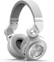 Bluedio T2 Plus White Dynamic Wired & Wireless bluetooth Headphones