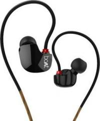 Boat Nirvanaa Uno Black Wired Headset with Mic (In the Ear)
