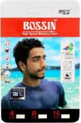 Bossin High Speed 4 GB MicroSD Card Class 4 24 MB/s Memory Card