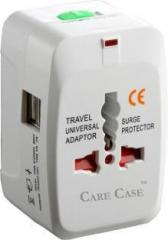 Care Case 2 Usb Travel Universal Adapter Good Quality International Worldwide Adaptor