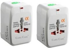 Care case Pack Of 2 Travel Universal Good Quality Worldwide Adaptor