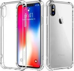 Casewilla Back Cover for Apple iPhone X (Transaprent, Clear, Shock Proof)