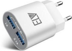 Elv 2 USB Port Auto Detect Technology Wall Travel Charger Adapter for All Smartphones and Tablets Mobile Charger