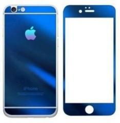 Mudshi Tempered Glass Guard for Apple iPhone 4s Blue Color