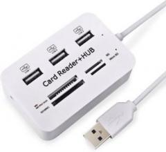 Retrack 3.1/3.0 5/10GBPS All in One High Speed Multifunction 3 Port USB SD / TF Card Reader