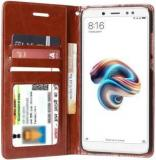 Unistuff Flip Cover For Mi Redmi Note 5 Pro (Dual Protection, Artificial Leather)