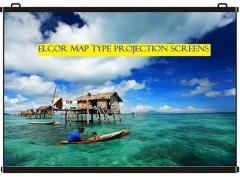 Elcor Map Type Projector Screen 5ft x7ft