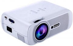 Everycom X7 LED Projector 1800 Lumens HDMI USB VGA TV Home Theater White