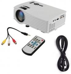 Ibs Mini Projector Full Color 1080P Home Cinema HDMI /AV/USB Video LED Portable Projector LCD Projector 640x480 Pixels