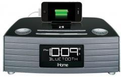 ihome bluetooth speaker phone stereo usb charging fm alarm clock radio combo with purple sling. Black Bedroom Furniture Sets. Home Design Ideas