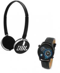 JBL T26C On ear Headphones + Giordano 60058 Wrist Watch