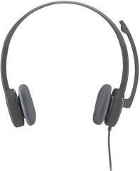 Logitech PN 981 000587 H151 Over Ear Stereo Headset With Mic Black