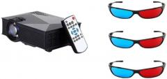 UNIC UNIC UC46 LED Projector 1920x1080 Pixels with Three 3D Glasses