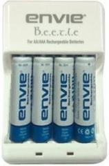 Envie Beetle Charger ECR 20 + 4xAA 1000 Ni Cd Battery Camera Battery Charger