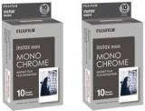 Fujifilm 2X Instax Mini Monochrome 10 Pack Film Roll