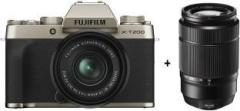 Fujifilm X Series X T200 Mirrorless Camera Body with 15 45 mm + 50 230 mm Dual Lens Kit