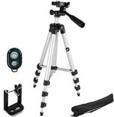 bf8c500bb Smiledrive 105 CM LONG LIGHT WEIGHT MOBILE TRIPOD WITH WIRELESS CLICKER  Tripod Price in India - with Offers