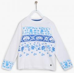 fd82056ae Allen Solly Junior White Sweatshirt for girls price 2019   trends in ...