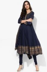717f244cac Biba Navy Blue Embroidered Salwar Kameez Dupatta for women price in ...