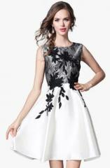 e22bcf49358ce Jc Collection White Embroidered Skater Dress for women price in ...