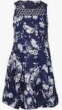 Nauti Nati Navy Blue Casual Dress Girls