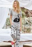 Next Grey Swan Print Pyjama Sets Women