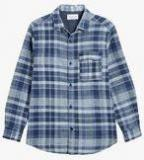Next Long Sleeve Jersey Lined Check Shirt Boys