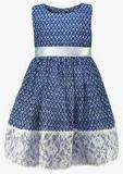 Peaches Blue Casual Dress Girls