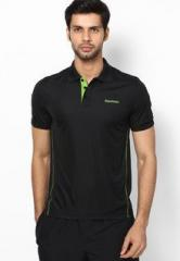 788b3138 Reebok Black Polo T Shirt men