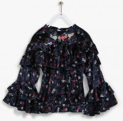 Tiny Girl Navy Blue Casual Top girls