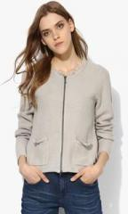 0dc500ff5651 Tom Tailor Grey Solid Summer Jacket for women price in India on 21st ...