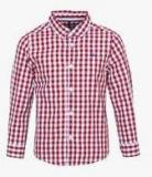 United Colors Of Benetton Maroon Casual Shirt Boys