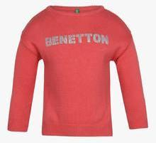 United Colors Of Benetton Peach Sweater girls