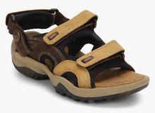 Woodland Camel Sandals for Men online