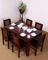 5ca29f5ff698 Allie Wood Sheesham Wood Dining Table with 6 Chairs for Home and Living  Room Solid Wood 6 Seater Dining SetOUT OF STOCK