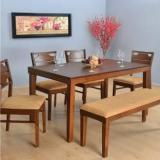 @home By Nilkamal Olenna Solid Wood 6 Seater Dining Set
