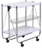 @Home Keev Folding Serving Cart In White Colour