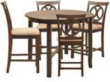 @home Lauren Four Seater Dining Set In Brown Colour